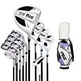 HZC Femmes Plein Club (13 pièces) - Set Golf 3 poteaux en Bois +1 poteaux en Bois de Fer + 8 fers 1 Putter 1 Sac à...