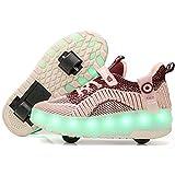 MJ-Brand Zapatos con Ruedas - Zapatillas de Deporte Luminosas para Exteriores de...
