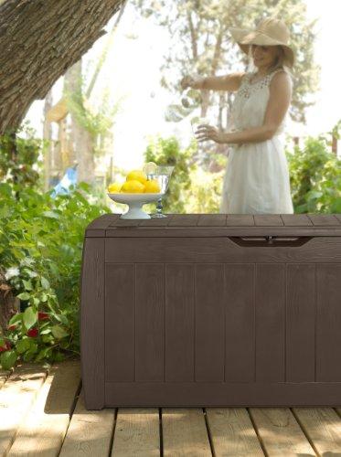 Keter Kissenbox Hollywood Box, braun, 270L, 118cm - 7