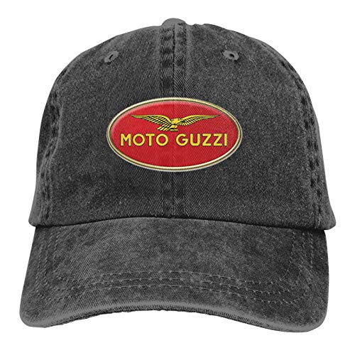 Skiroromg Moto Guzzi Motorcycle Logo Gorra de béisbol Ajustable de algodón Unisex Gorra de Camionero Gorra de Mezclilla Gorra de Casquette Baseball Caps