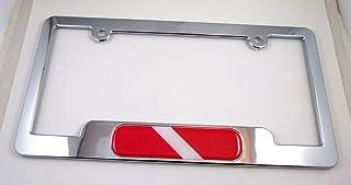 غواص الغوص ABS مطلي بالكروم إطار لوحة ترخيص خالية من الأغطية والغسلات