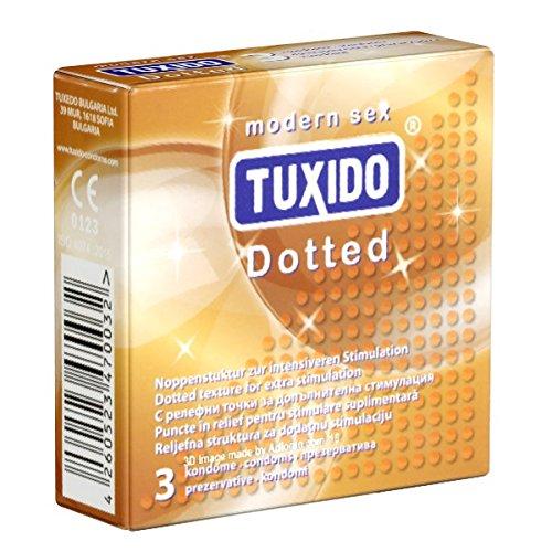 Tuxido «Dotted» 3 Kondome - Noppen-Kondome - Liebe, Vergnügen und Sicherheit