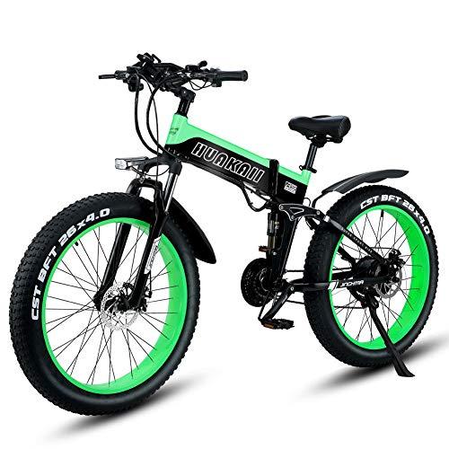 Shengmilo Vélo Pliant Électrique, 26 Pouces Vélo Électrique Mountain Snow, Shimano 21 Vitesses, Frein Xod, 1 Pcs Batterie Au Lithium 48v / 13ah Incluse (MX01) (Rouge)