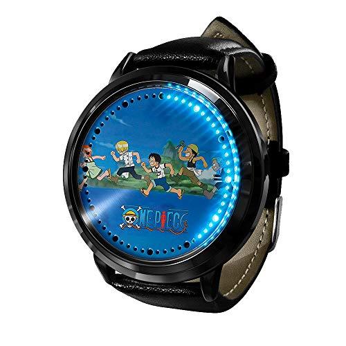 Anime de una Pieza Serie LED Pantalla táctil Reloj Digital para Hombre Mujer,Impermeable Grande Ultra Delgado Deportivo Relojes de Pulsera Unisex