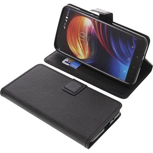 foto-kontor Tasche für Blackview P6000 Book Style schwarz Schutz Hülle Buch