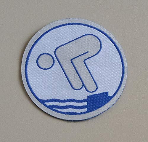 Erlebe Wasser Fahrtenschwimmer RUND Stoffabzeichen (Silber)