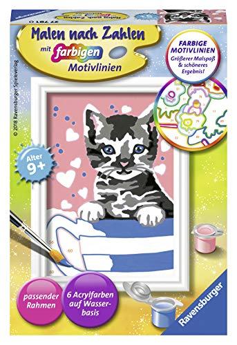 Ravensburger Malen nach Zahlen 27781 - Kleines Kätzchen - Für Kinder ab 7 Jahren