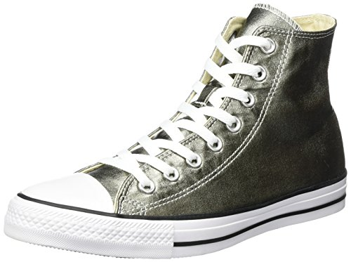 Converse Unisex-Erwachsene Chuck Taylor All Star High-top, silberfarben, 38 EU