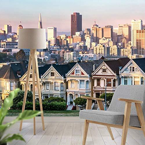 Fotobehang Colombo - San Francisco Skyline 432 x 260 cm (bxh) | Hoogwaardige Kwaliteit Vliesbehang | Eenvoudig te Plakken