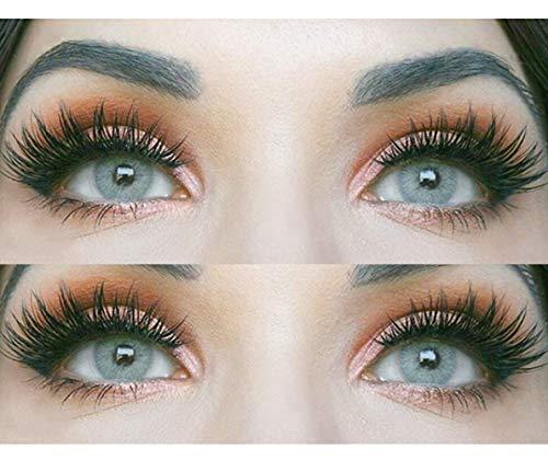 """Sehr stark deckende und natürliche graue Kontaktlinsen SILIKON COMFORT NEUHEIT farbig """"Jasmine Gray"""" + Behälter von GLAMLENS - 1 Paar (2 Stück) - DIA 14.00 - ohne Stärke 0.00 Dioptrien"""