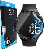 [4 Stück] 3D Schutzfolien kompatibel mit Huawei Watch GT 2e, durchsichtige HD Bildschirmschutz-Folie, Schutz vor Dreck & Kratzern, kein Schutzglas - smart engineered