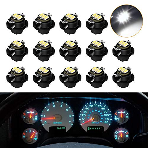 Urite2GO Instrument Gauge Cluster Speedometer LED Lights Bulbs Kit Replacement Compatible with 2002-2006 Dodge Ram 1500 2500 3500 (White)