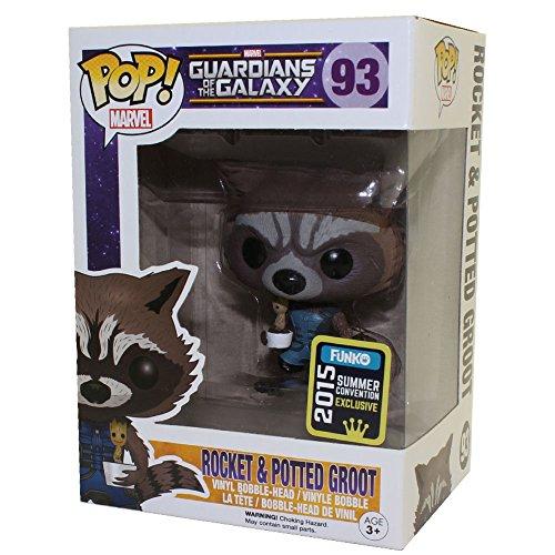 Funko POP! Marvel: Guardianes de la Galaxia: Rocket Raccoon con Baby Groot Exclusiva
