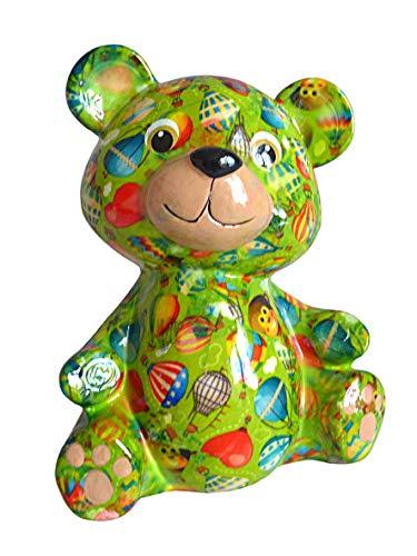 Pomme Pidou Spardose Bär grün Ballon Sparbüchse Teddy Sparschwein Geldgeschenk Geschenk