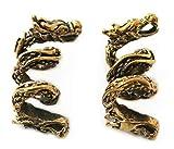 Bronze Norse Viking Dragon Beard Beads Rings, Dwarven Dreadlock Pirate Medieval Hair Beads, Pagan Jewelry (Set of 2 pcs)