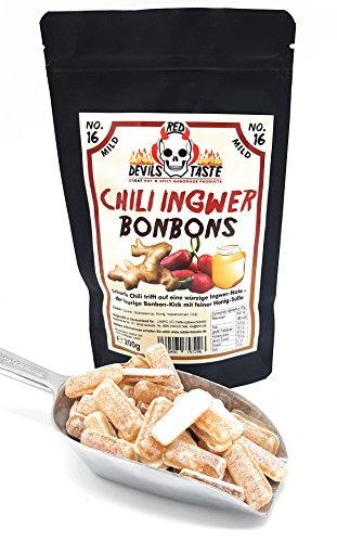 Chili Ingwer Bonbon mit Honig- mild - 200g - im ZIP Beutel - RED DEVILS TASTE