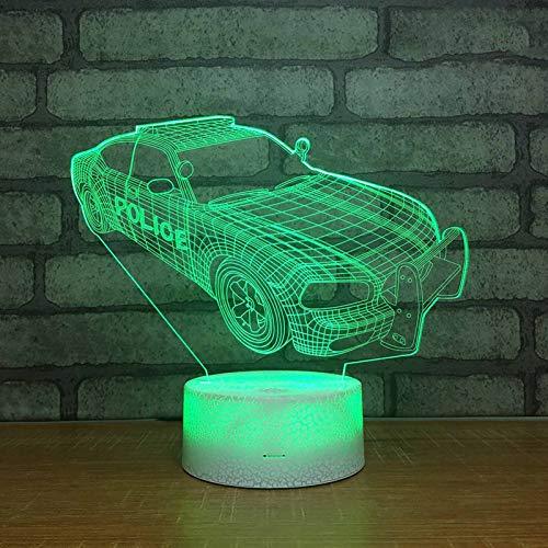 CREPUSCOLO Lampe Sportwagen Nachtlichter 3D Illusion für Kinder, Dekor Lampe mit Fernbedienung Baby Kinder schlafen Geburtstagsgeschenke für Jungen mit 7 Farben Cart Toys(08)