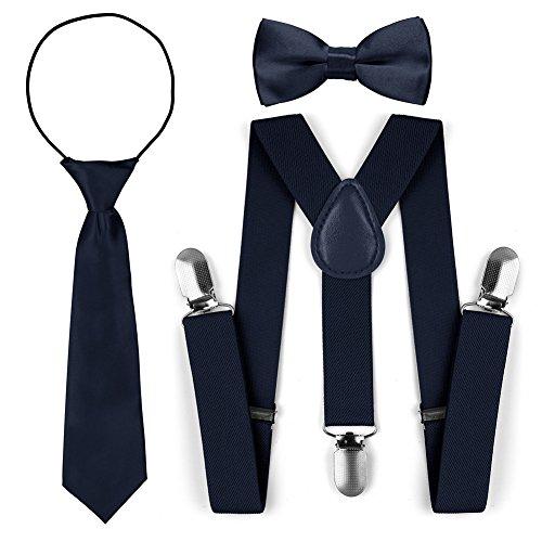 Set di cravatte a farfalla con cravatta a farfalla regolabile per bambini (Marina)
