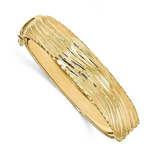 Leslies - Bracciale rigido da donna in oro giallo 14 carati, con finitura lucida
