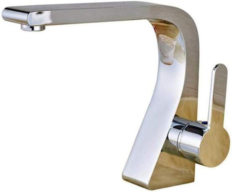 Wasserhahn Küche Bad Garten Wasserhahn Waschtischmischer Chrom Einhand-Loch Messing Bad Wasserhahn Ctzl0997