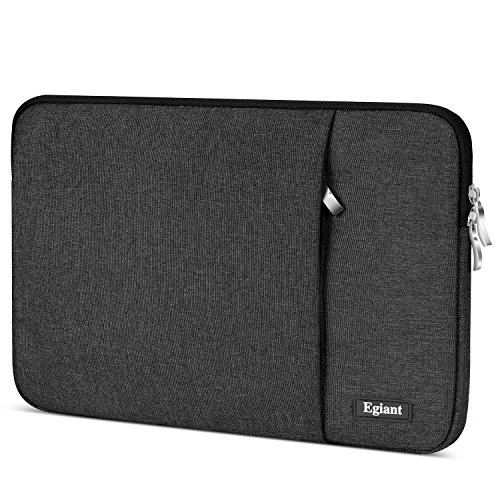 egiant Laptop Sleeve 11.6 inch, Waterproof Fabric Protective Case Bag for Ma Air 11/Mac 12/Acer Chromebook R11/HP Stream 11/Surface Pro 3/4 11.6 Dell Samsung HP Asus Lenovo Notebook Computer(Black)