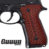 Guuun G10 Grips for Beretta 92, 96, 92 fs, m9, 92a1 Sunburst Texture - RED