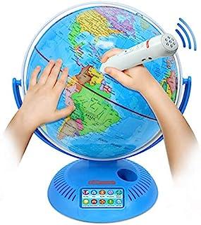جهانی تعاملی با پایه و قلم هوشمند   جذاب ، نقشه جغرافیایی رنگارنگ برای آموزش و یادگیری اولیه   پخش فعال ، ضبط صدا ، سوالات بی اهمیت ، 9 اینچ