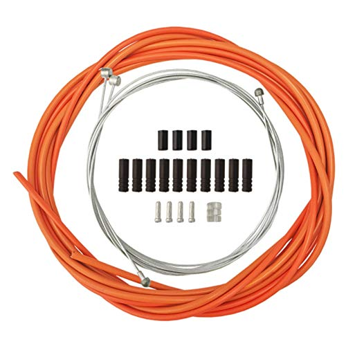 Camisin Wire for Bicycle Bike Shifters Derailleur Brake Cables Cable Tube 4mm/5mm Road Bike Shifter Brake Cable Line Pipe Orange