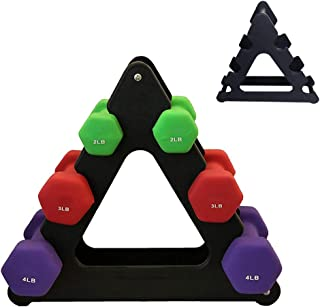 Balight Dumbbell Tree Dumbbell Rack Stand Home Gym Exercise 12-30kg Black & Grey (Rack Only)