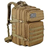 QT&QY 45L Military Tactical Backpacks Molle Army Assault Pack 3 Day Bug Out Bag Hiking Treeking...