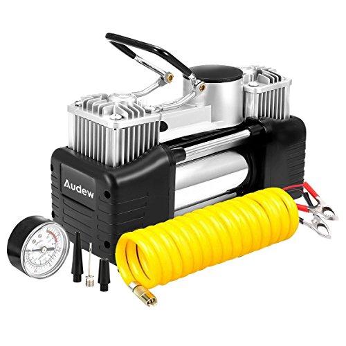 Audew Luftkompressor Luftpumpe Auto Kompressor Reifenpumpe mit Hochleistungs-Doppel-Zylinder