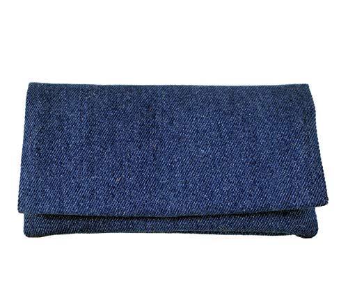Plan B, Portasigarette Tabacco Trinciato, Yolo Jeans, 16 x 8,50 cm, 50 g, con Borsa In Gomma Eva Rimovibile, Blu
