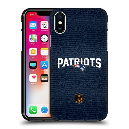 Head Case Designs Ufficiale NFL Calcio New England Patriots Logo Cover Nera in Morbido Gel Compatibile con Apple iPhone X/iPhone XS