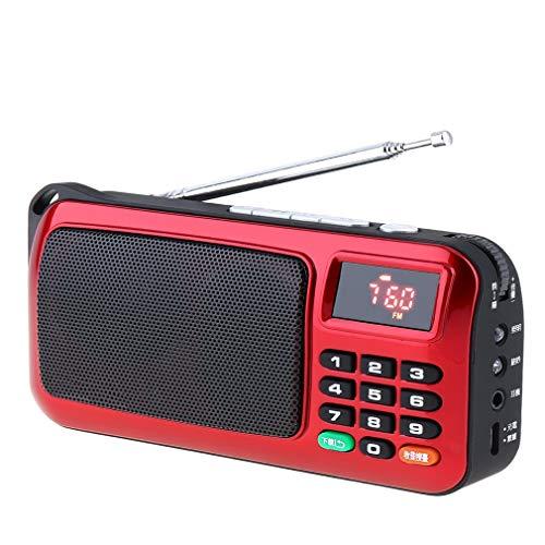 ZTT FM Radio-Lautsprecher, tragbare Mini-USB-MP3-Musik-Spieler TF-Subwoofer-Radio mit LED-Anzeige Taschenlampe