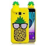 LAXIN Coque Galaxy J3 (2016) Dessin Animé, Samsung J320 Ananas Coque Floral Mince Anti-Rayures...