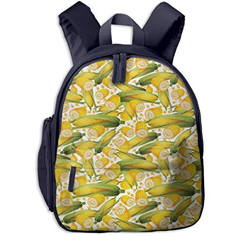 Kinderrucksack Bio Lebensmittel realistischer gelber Mais Babyrucksack Süßer Schultasche für Kinder 2-5 Jahre
