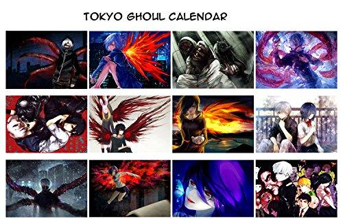 Anime Kalender 2020 (12 Pages 20x30cm) Tokyo Ghoul Horror Manga PXLV7077