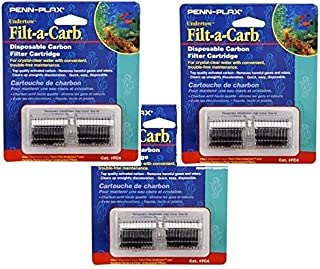 Penn Plax Cartridges FC4-Fits Undertow and Perfect-a-Flow - 6 Total Cartrides - (3 Packs with 2 per pack)