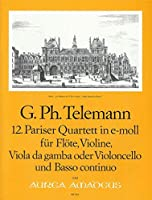 TELEMANN - Cuarteto en Mi menor (TWV:43/e4) (Partitura/Partes)