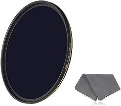 فیلتر LENSKINS 67 mm ND 1000 ، فیلتر چگالی خنثی 10 استاپ برای لنزهای دوربین ، روکش چند لایه مقاوم در برابر 16 لایه ، شیشه اپتیک آلمان ، فیلتر ND با مهر و موم با پارچه لنز