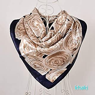 HBEI Wine Red Bag Design Women Scarves Headscarves Spring Autumn Winter Silk Large Square Scarf Cape (Grey,90cm by 90cm)