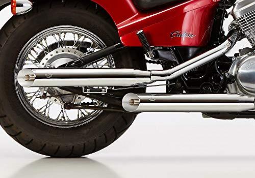 Falcon Cromo Line Slash Cut - Sistema de escape para Honda VT 600 Shadow con EG-BE