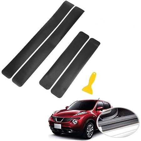 Protezione Pedale,Pellicole Protettive con Raschietto O-Kinee Adesivi Soglia Auto Adesivo per Auto Porta in Fibra Carbonio Nero Protezione Porta Universale Copertura AntiGraffio Pedale