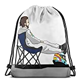 LREFON Fórmula 1 - Fernando Alonso Deckchair Sport Bag Gym Sack Mochila con cordón Solid Cinch Pack