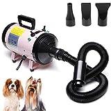 2800W Dog Cat Pet Hairdryer Grooming Adjustable Wind Speed Temperature Setting Blaster Blower