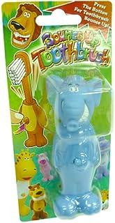 バウンスアップ歯ブラシ《ゾウ》おへそを押すと首が伸びる☆子供用洗面用具通販☆