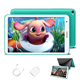 Tablet para Niños con WiFi 8.0 Pulgadas 3GB RAM 32GB/128GB ROM Android 10.0 Pie Certificado por Google GMS 1.6Ghz Tablet Infantil Quad Core Batería 5000mAh Tablet PC Netflix Juegos Educativos(Verde)