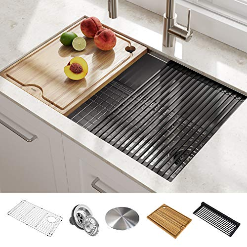 Long Narrow Contemporary Stainless Steel Kitchen Sink