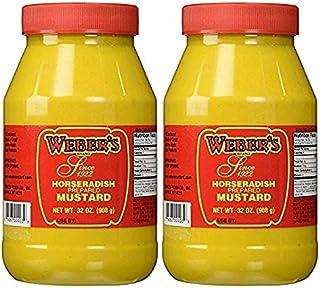 Weber's Horseradish Mustard (32oz, 2 Pack)
