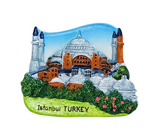 zamonji Hagia Sophia, Istanbul, Türkei - 3D Harz Kühlschrank Magnete Reise Tourist Souvenir Collection Home & Küche Dekoration